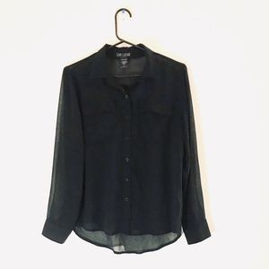 Love Culture Sheer Button Down Blouse